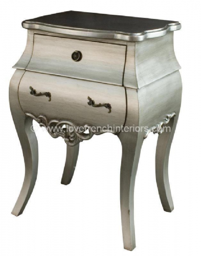 Tamsin Silver Two Drawer Bedside